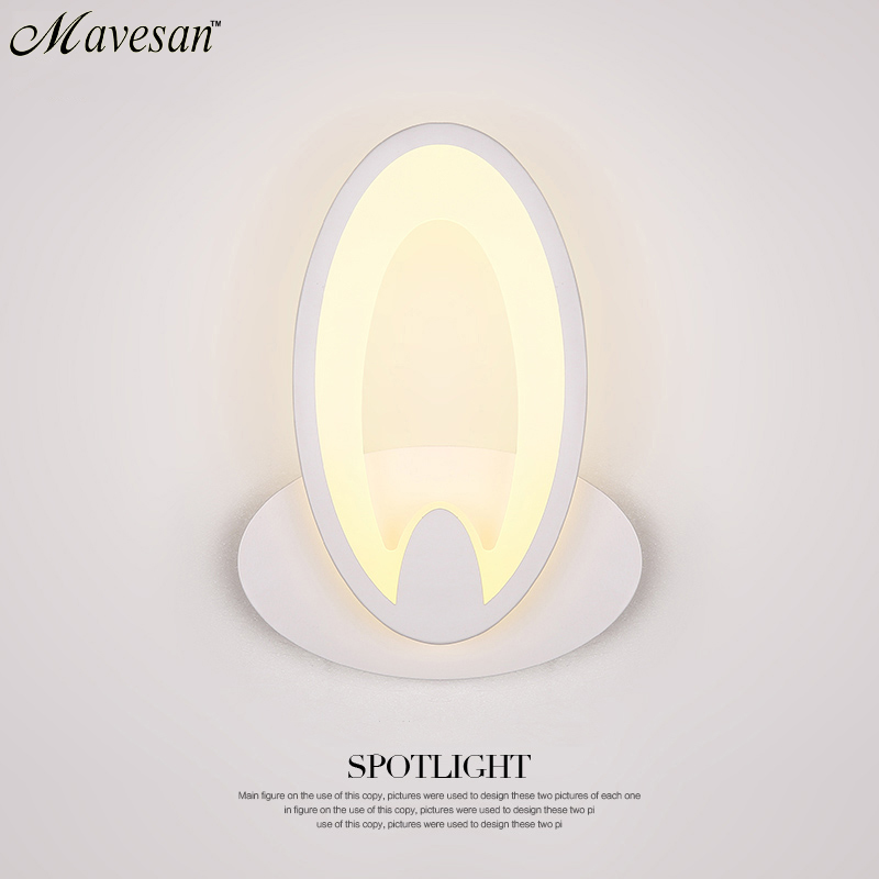 ФОТО Modern LED Wall Lamp For Bathroom Bedroom 11W Wall Sconce White Indoor Lighting Lamp AC100-265V LED Wall Light Indoor Lighting