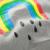 En Las Ventas 2017 sudaderas niñas niños casual top del arco iris imprimir deportes sudadera bebé prendas de vestir exteriores 100% algodón