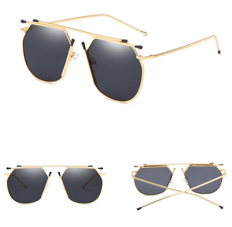 Peekaboo männer quadrat sonnenbrille frauen gold flache oberseite ...
