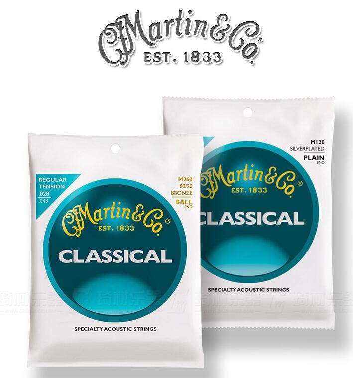 Martin Classical Guitar Strings M120 M160 M220 M260 High Tension Regular Tension