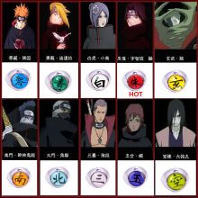 1pc  naruto anime akatsuki rings Naruto ring Members ITACHI sasuke Pein pain pendants