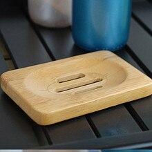 Natural Bamboo Wood Bathroom Shower Soap Tray Dish Storage Holder Plat Bamboo soap soap bo