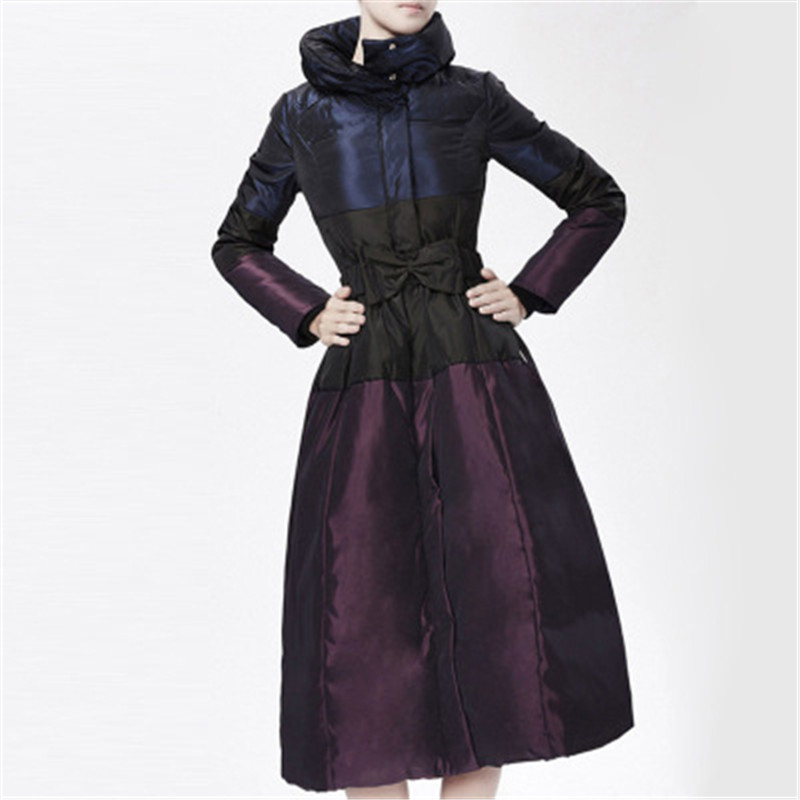 Vintage 4xl 2018 Coton Veste D410 S Grand Violet Parka Bas purple Vers D'hiver Le Femmes Européen Vêtements X Black Style Manteau long Svq0xfU