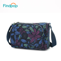 Findpop Floral Printing Shoulder   Bags   For Women Crossbody   Bags   2018 Fashion Casual Waterproof Large Capacity Nylon Shoulder   Bags