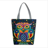 Owl Print Female Bird Cage Bird Cage Female Hand Bill Of Lading Shoulder Cloth Bag Foreign