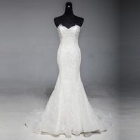 Vinca Sunny 2018 New Model Mermaid Wedding Gown Beading Lace Wedding Dress Back Zipper Bridal Gown