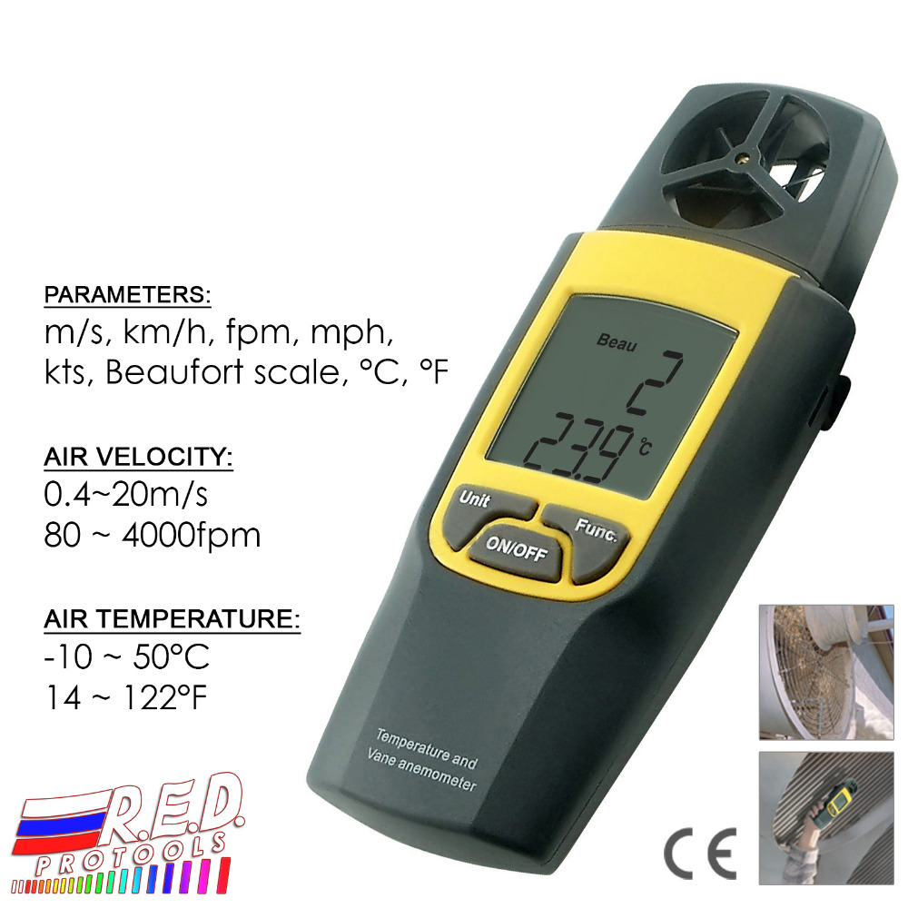 Digital Thermo Anemometer 4000 fpm Thermometer Speed Velocity Temperature mph m/s + Built-in Rotary Vane + Data Hold function wansenda high speed usb flash drive external storage otg pen drive 64gb 32gb 16gb 8gb 4gb usb 2 0 pendrive usb stick flash drive