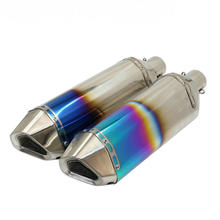 Motorcycle Exhaust Pipe Muffler Modification Exhaust Stainless Steel Motorbike Yoshimura GY6 RS100 Escapment(China)