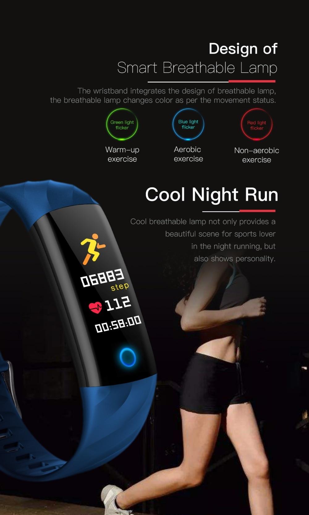 Torntisc S5 Heart Rate Fitness Bracelet IP68 Waterproof Blood pressure oxygen Monitor Color Screen Activity Tracker Smart Band Watch (3)