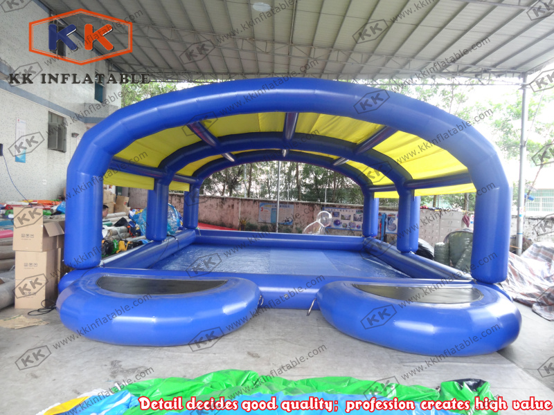 Inflatable pool with cover above ground swimming pool for for Inflatable above ground pools