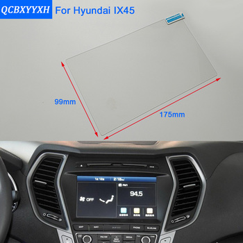 Car Styling 8 Inch GPS Navigation Screen Steel Glass Protective Film For HYUNDAI SANTAFE IX45 Control of LCD Screen Car Sticker image