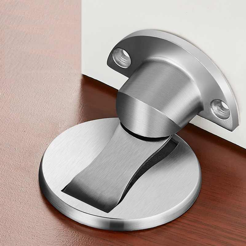 KAK Magnetic Door Stops 304 Stainless Steel Door Stopper Hidden Door Holders Catch Floor Nail-free Doorstop Furniture Hardware