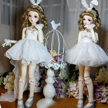 NEW Sexy White Strapless gown with Trailing Dress/Western style clothes 1/3 1/4 SD DD MSD BJD Doll Clothes