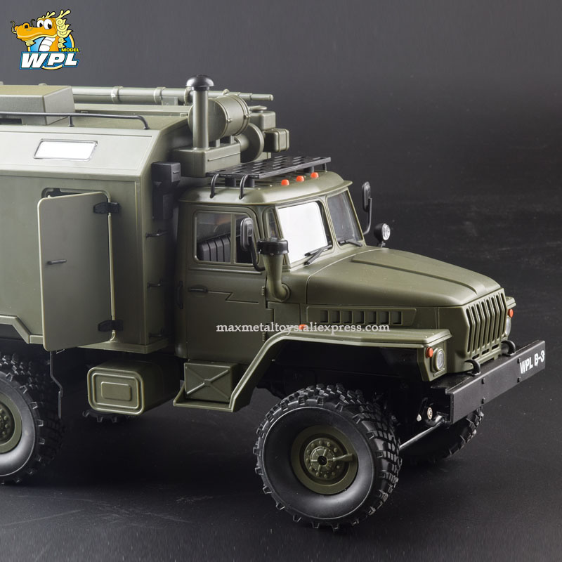 WPL B36 1:16 RC Car 2.4G 6WD Military Truck Crawler Command Communication Vehicle RTR Toy Carrinho de controle-in RC Cars from Toys & Hobbies    3
