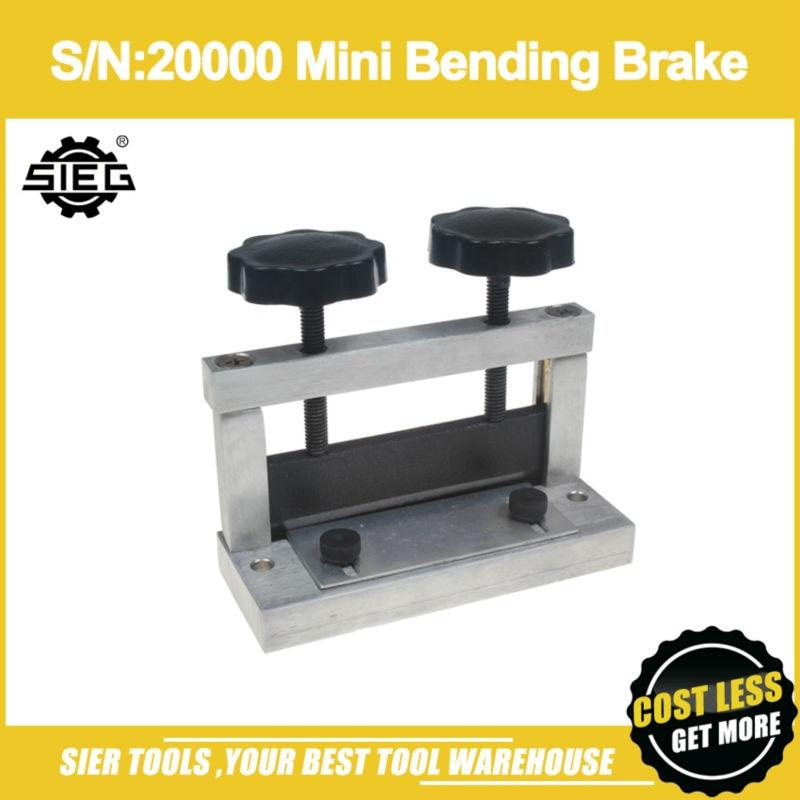 Free Shipping S N 20000 Mini Bending Brake SIEG Bending machine Manual Press Brake machine