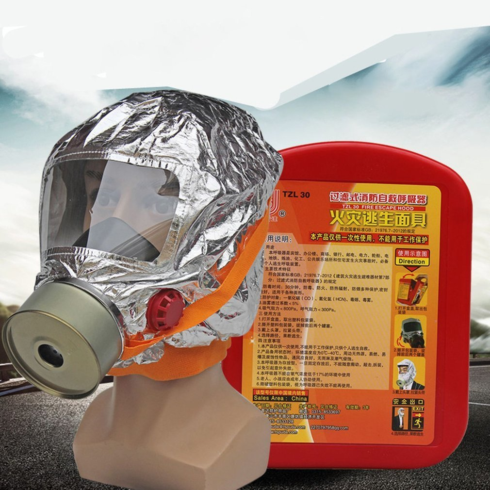 Fire escape mask Emergency Hood Oxygen gas masks Respirators 30 Minutes Smoke Toxic Filter Gas Mask with packing box Escape mask new 2018 catalyst desiccant fire escape mask emergency hood oxygen gas masks respirators 30 minutes smoke toxic filter gas mask