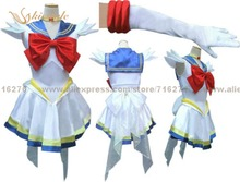 Kisstyle moda de nueva anime pretty soldado super sailor moon sailor moon serena blanco dress cosplay mujer fiesta de halloween