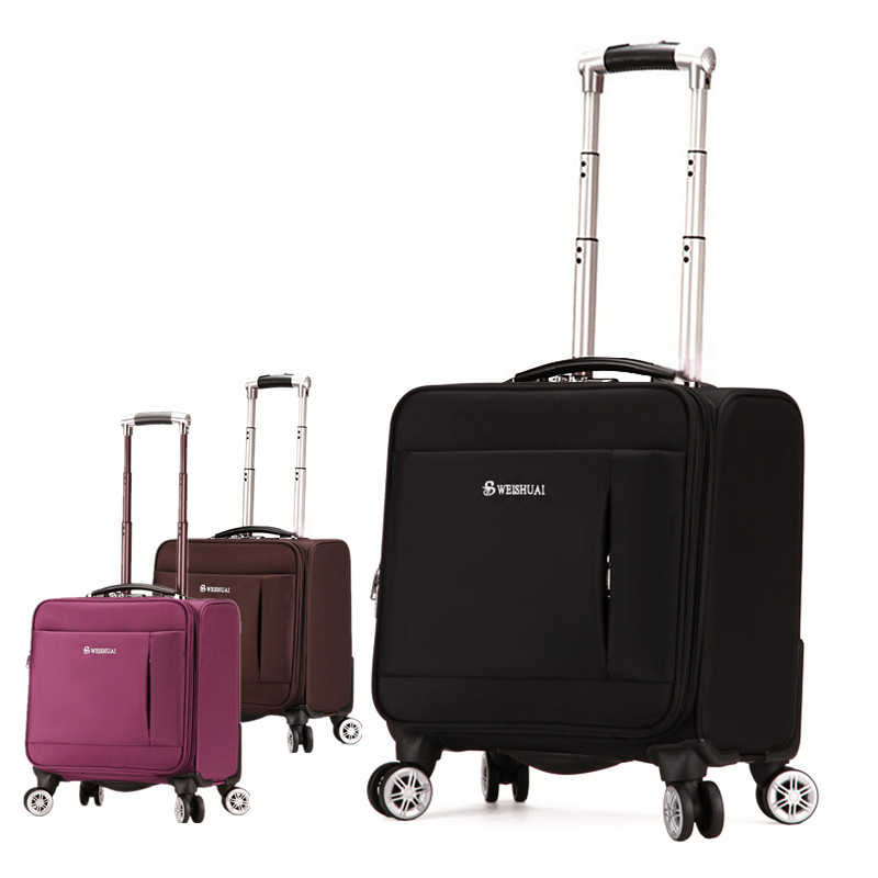 Male trolley luggage oxford fabric luggage 18 commercial luggage wheels travel universal female bag small waterproof luggage bag cool fluid oxford fabric box luggage female universal wheels trolley luggage bag travel bag male luggage new 20 22 24 26 28bags