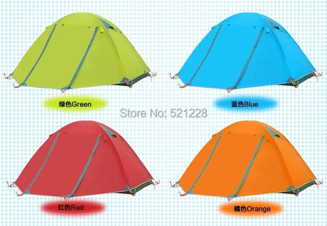 Free shipping hot sale  Flytop 2 person aluminum rod outdoor camping mountaineering hiking fishing tent in new camouflage colour