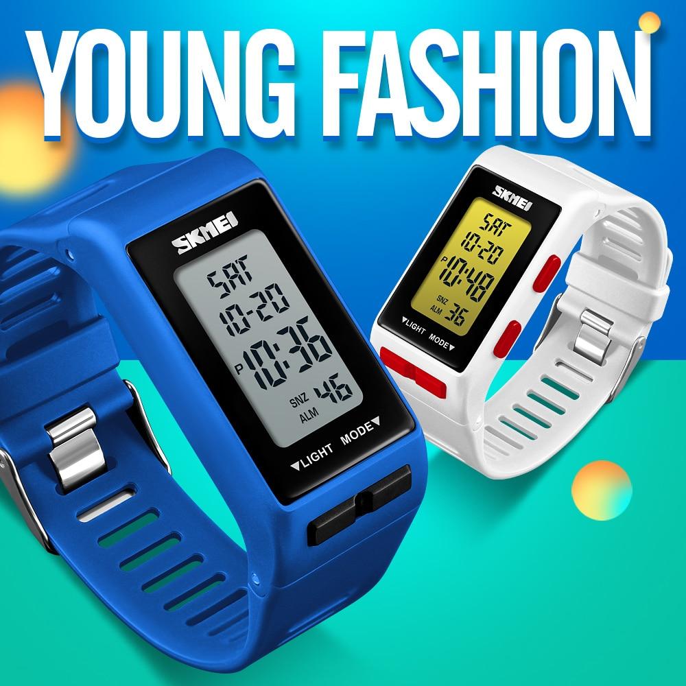 Casais Esportes SKMEI Marca de Luxo Relógios de Moda À Prova D' Água Relógio Eletrônico Digital LED Relógios de Pulso do Amante para Mulheres Dos Homens