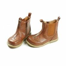 Пояса из натуральной кожи в стиле ретро ботинки для девочек модная детская Ботинки Челси ребенка дождь Сапоги и ботинки для девочек Обувь для мальчиков и Обувь для девочек ковбойские сапоги От 1 до 6 лет