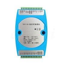 8 כביש בידוד K תרמי PT100 תרמית התנגדות העברת RS485 משדר טמפרטורת רכישת מודול MODBUS RTU