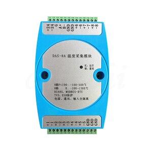 Image 1 - 8 strada isolamento K termocoppia PT100 resistenza termica di trasferimento RS485 trasmettitore modulo di acquisizione temperatura MODBUS RTU
