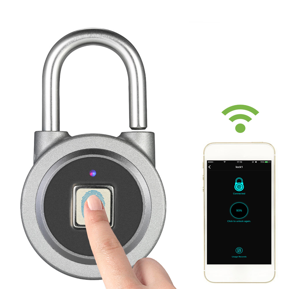 Smart BT Fingerprint Keyless Lock Waterproof APP / Fingerprint Unlock Anti Theft Padlock Door Lock for Android iOS System-in Hooks & Rails from Home & Garden on Aliexpress.com   Alibaba Group