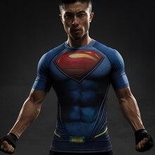 Superman 3D Printed Men Compression Crossfit T-shirts Short Sleeve