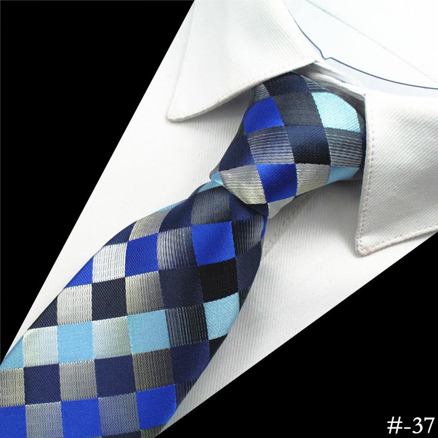 GUSLESON Silk Men Tie 8cm Plaid Paisley Neck Hubungan untuk Lelaki - Aksesori pakaian - Foto 2
