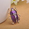Vintage Jewelry Beetle Brooches For Women Kids Enamel Purple Antique Fleur De Lis Animal Insects Brooch For Jewelry Hijab Pins