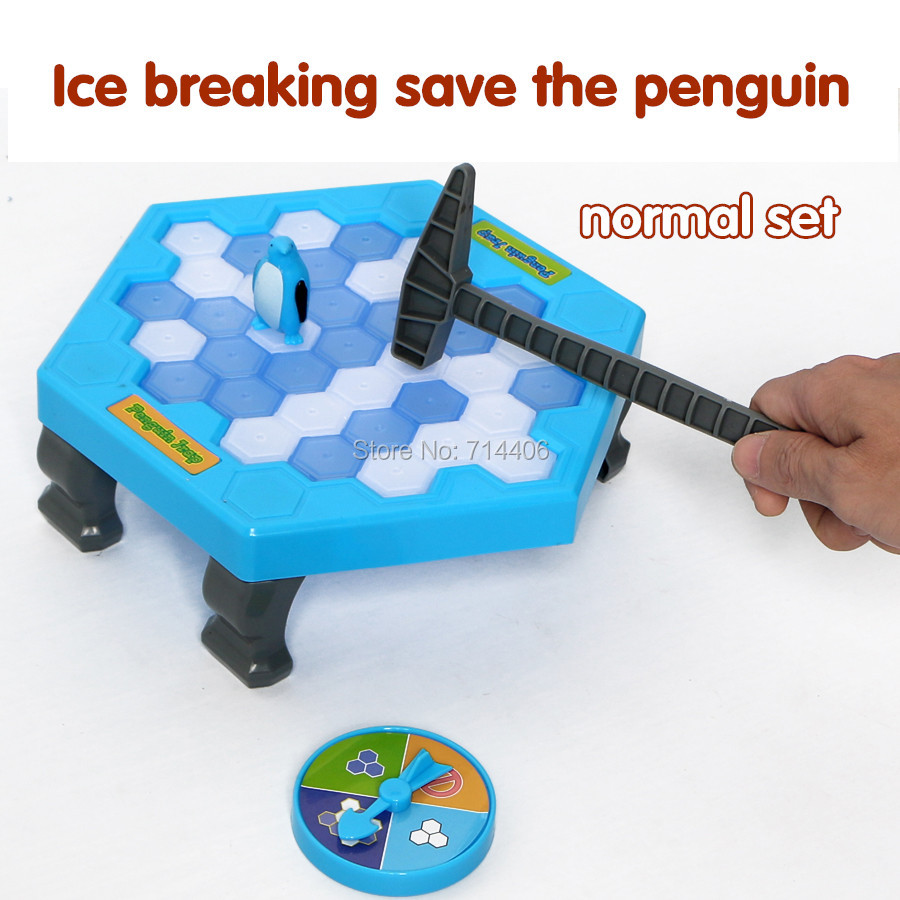 Penguin Ice Breaking Puzzle Table Games Balance Ice Cubes Knock ice block wall Interactive parent child