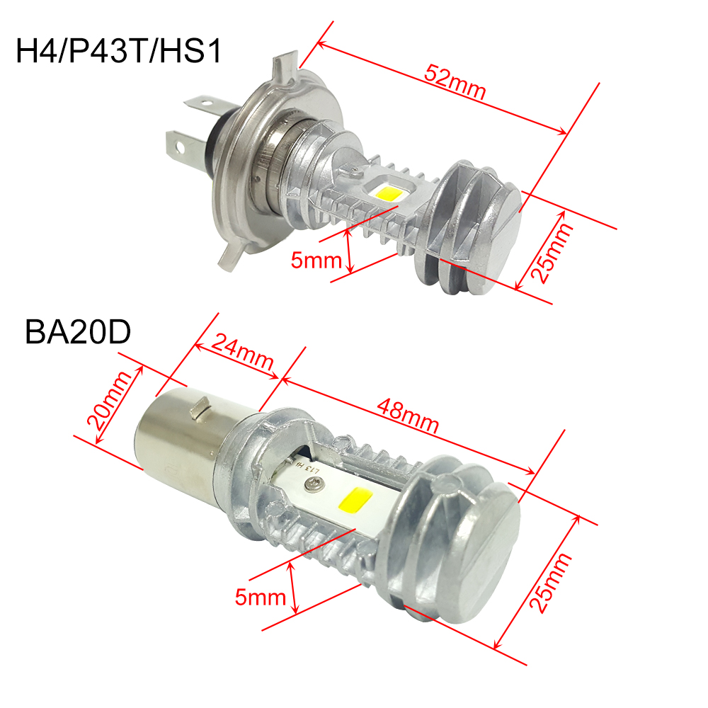CNSUNNYLIGHT H6 LED H4 P43t HS1 BA20D Motorcycle Headlight Bulbs 1080Lm High Low Lamp Scooter Accessories Moto DRL Lights For Suzuki (14)