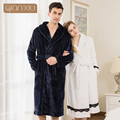 Qianxiu Robe For Women The Winter With  The New Couple Lace Coral Velvet Robe Simple Fashion Popular And Hot