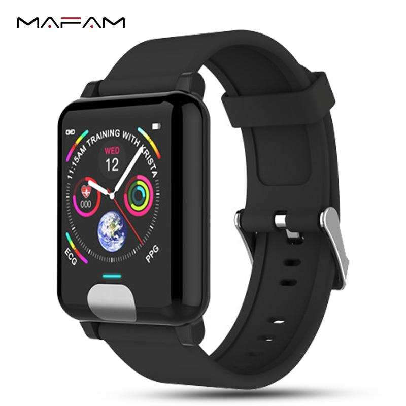 Mampa ECG bande intelligente PPG Bracelet intelligent Fitness pression artérielle moniteur de fréquence cardiaque Calories Bracelet de montre intelligent pour iphone xiaomi