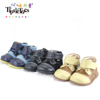 TipsieToes Brand High Quality Leather Stitching Kids Children Soft Boots School Shoes For Boys 2014 Autumn