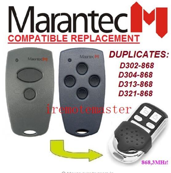 2pcs Marantec D302,d304 868mhz Compatible Remote Control Duplicator