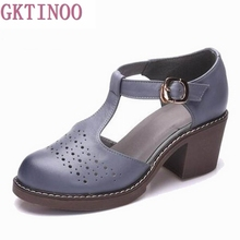 2017 summer sandals female handmade 100% genuine leather women casual comfortable woman shoes T3741