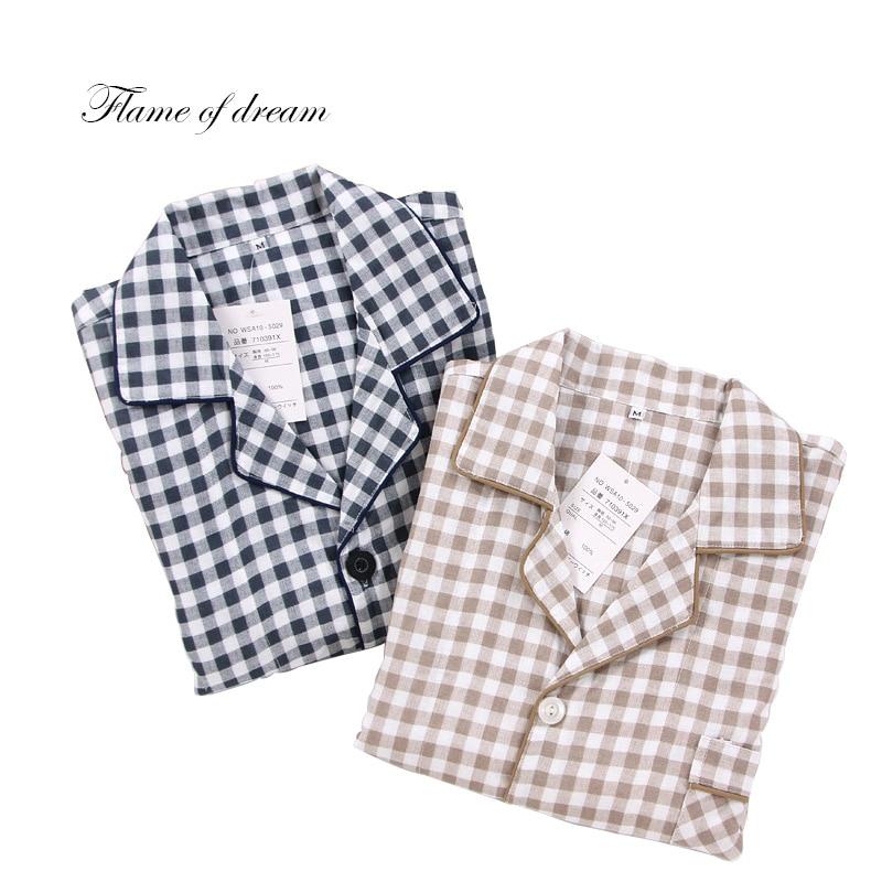 Underwear & Sleepwears Generous 2018 Men Pajamas Sleepwear Long Sleeping Shirts Cotton Pajamas For Men 8152