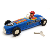 [Funny] Adult Collection Retro Wind up toy Metal Tin F1 Racing car champion racer Clockwork toy figures model vintage toy gift