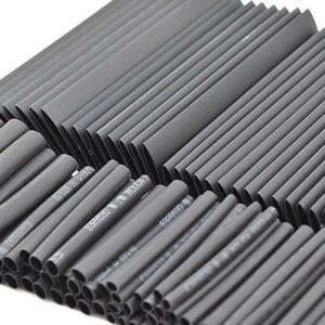 127 sztuk Sleeving Tube Tube zestaw asortymentowy chowany czarny klej odporne na warunki atmosferyczne kable termokurczliwe rękawy