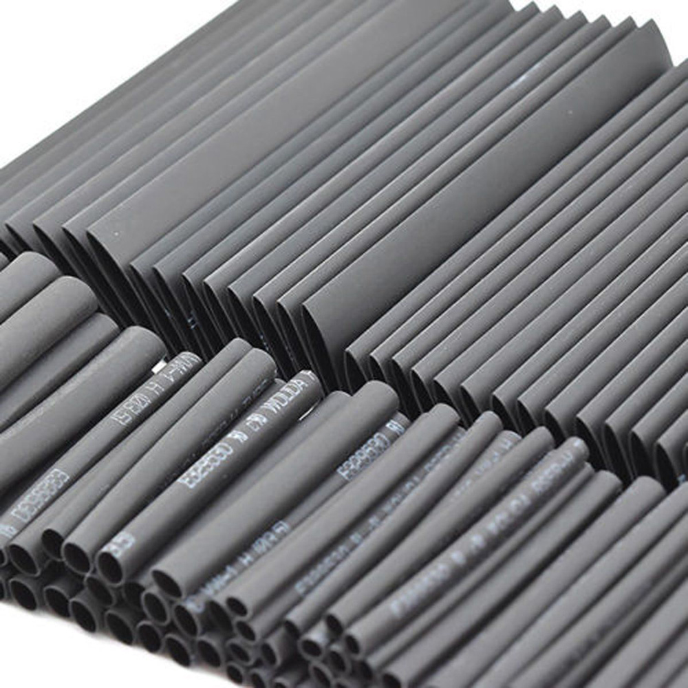 127pcs Sleeving Tubing Tube Assortment Kit Retractable Black Glue Weatherproof Heat Shrink Cables Sleeves