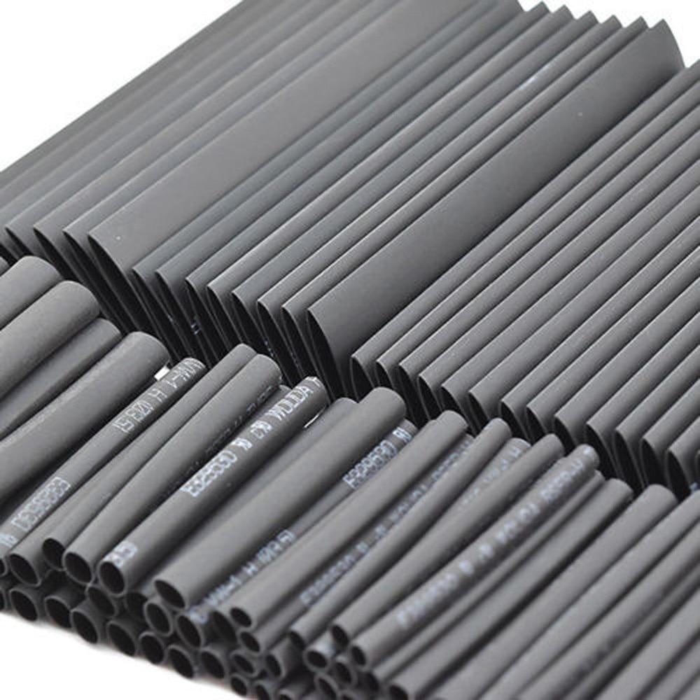127pcs Sleeving Tubing Tube Assortment Kit Retractable Black Glue Weatherproof Heat Shrink Cables Sleeves