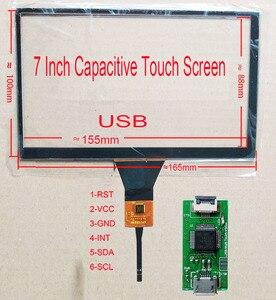 7 pollici USB di Tocco Dello Schermo di 165*100mm FPC Medio USB contrller di Supporto della Scheda di Win7 8 10 Raspberry Pi android LInux