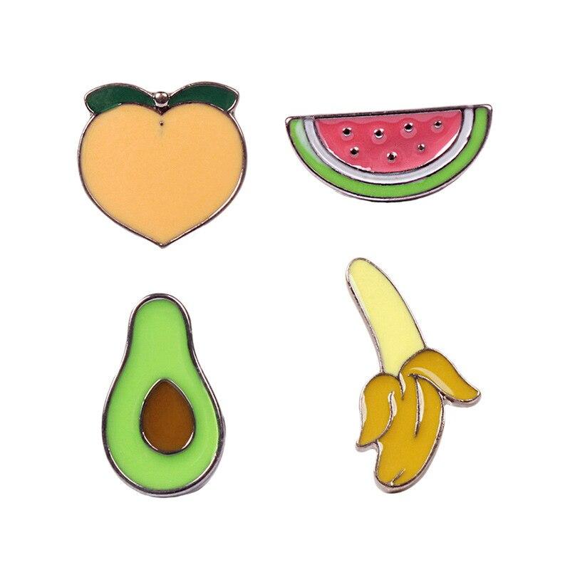 Cute Cartoon Watermelon Avocado Banana Peach Fruit Cool