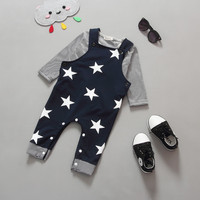 Summer Toddler Infant Boy Outifits Set Spring Style 2PCS Newborn Baby Girls Boys Shirt Suspender Pants