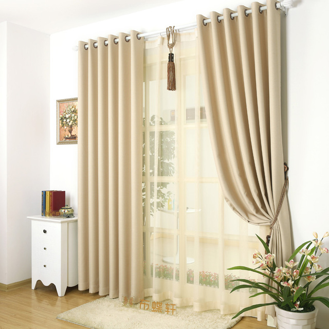blackout gray window curtains for living room linen thick drapes