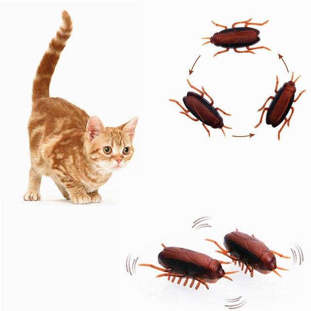 2 pz Elettronico Scarafaggio Giocattolo Gatto Simpatico Gatto Interattivo Da Cor