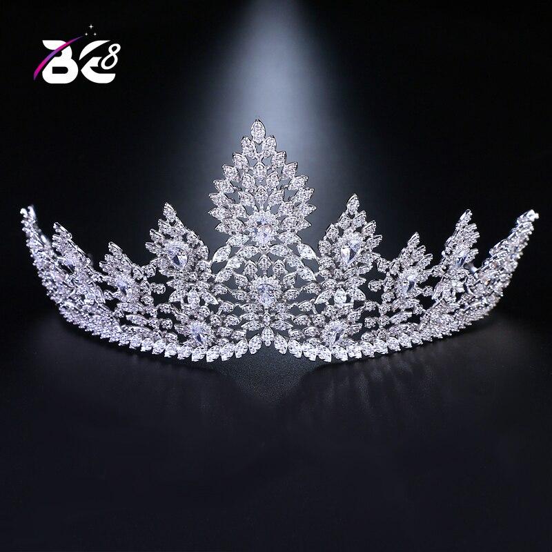 Être 8 2018 Nouveau De Mode De Luxe En Cristal Femmes Mariée Diadèmes Crwon AAA Cubique Zircone Pageant Cheveux Accessoires De Mode Bijoux H045