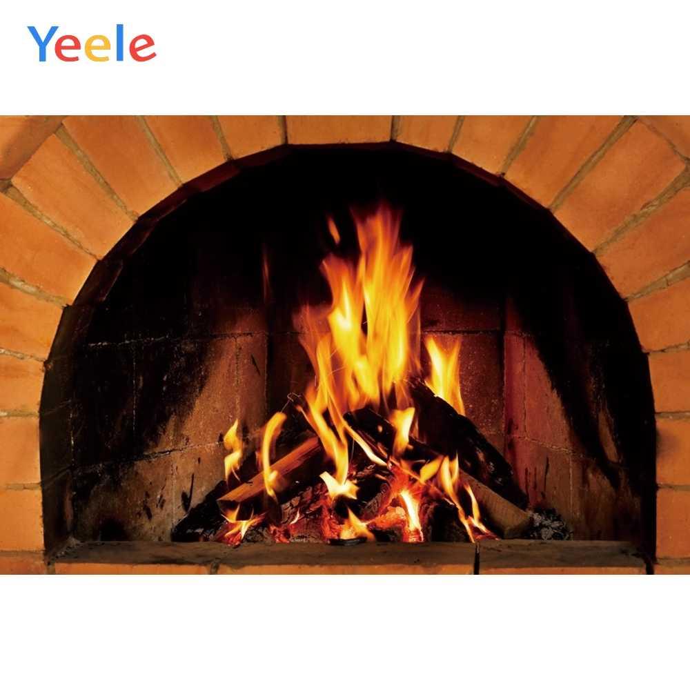Yeele 暖炉壁紙炎暖かいルーム絵画写真撮影の背景パーソナライズ写真